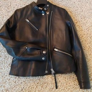 Coach Black Leather Biker Jacket
